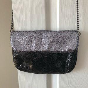 J. Crew glitter crossbody bag with chain strap